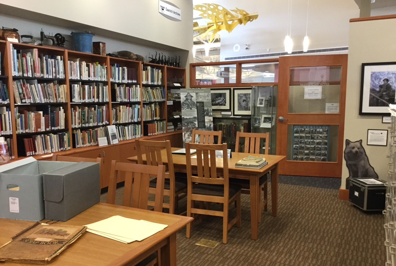 Image of the District of Saanich Archives reading room