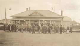 Hampton Hall and members of the Burnside Lawn Bowling Club