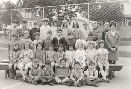 George Jay School class with teacher, Division 20, 1969