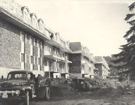Construction of William Fraser Tolmie Apartments, 1701 Cedar Hill Cross Road