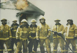 Saanich Fire Department practice fire, May 1988