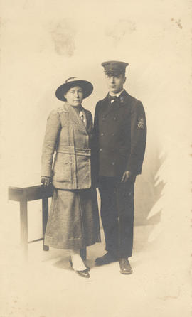 Lucy or Louisa Webster and unidentified man in naval uniform