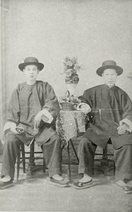Chinese cook and foreman of Rithet's Broadmead farm, Chinese New Year, 1893