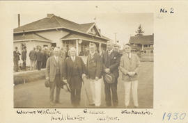 Postcard of the opening of the season, Burnside Lawn Bowling Club, 1930
