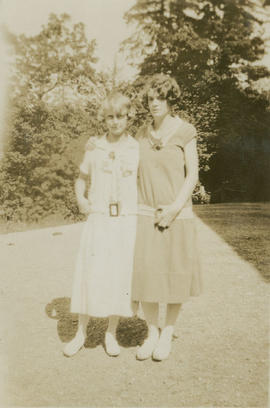 Barbara Hope at left, with friend