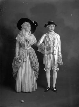 Dorothy Sehl, known as Dolly, in costume with fellow actor