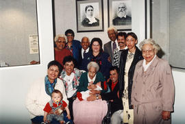 Descendents of Charles and Nancy Alexander at historic photograph unveiling at the Bruce Hutchiso...