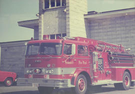 1960 FWD outside Saanich Fire Department No. 1 Hall, Vernon Avenue, 1978