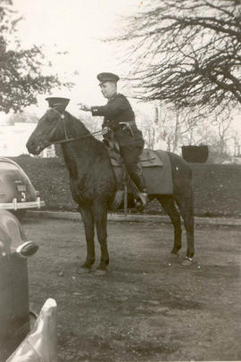 Josiah Bull on Police horse, 1936