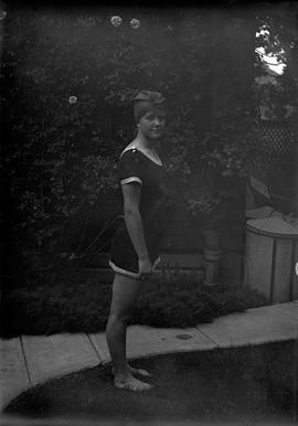 Florence Sehl in bathing costume