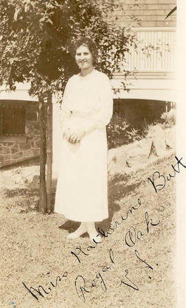 Miss Kathleen Butt (Warren), Tax Department Clerk, 1917