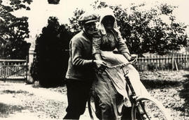 Alfred and Beatrice Hodgson on a bicycle