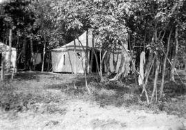 Estlin family camping tents at Max Lake, Manitoba