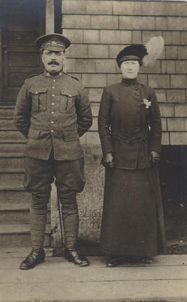 Possibly James Webster in uniform and his wife