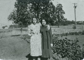 June Rosson and Deloris Grant near Rosson home