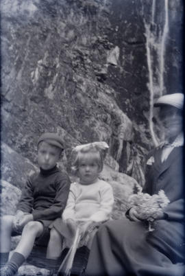 Woman and two children [Gray family]