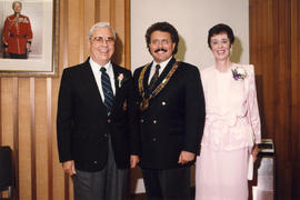Ken and Ev Middleton with Mayor Coell