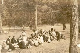 Saanich employees picnic at Little Cordova Beach, ca. 1917