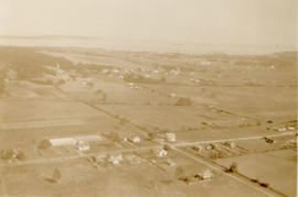 Aerial photograph of Lansdowne and Willows, taken by Olive Gray in bi-plane, 1931