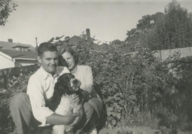 Murry and Sheila MacDonald and dog Rover