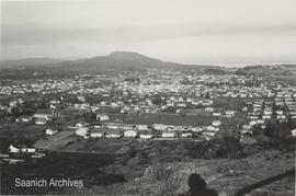 View from Mount Tolmie to Mount Douglas, 1967
