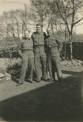 Ernie Underwood, Vic Humphrey, and Leslie Underwood at Potters Bar