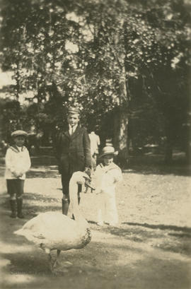 Brian, Gerald and Roger Lytton [at Beacon Hill Park]