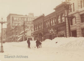 Government Street snow removal, 1916