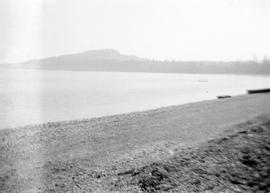 [View of Mount Douglas from] Cordova Bay beach