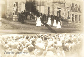 Crowning of the May Queen during May 24 festivities at the BC Parliament Building
