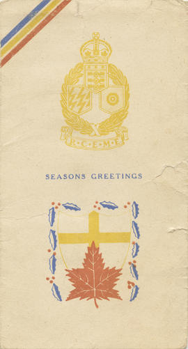 Christmas card, Corps of Royal Canadian Electrical and Mechanical Engineers