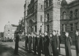 Air Cadets in front of B.C. Legislature building