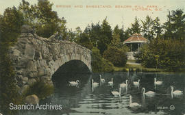 Bridge and bandstand, Beacon Hill Park, Victoria, B.C.