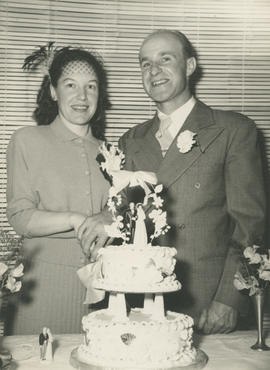 Marion and Ghazi Underwood on their wedding day