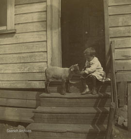 Dawson child with lamb