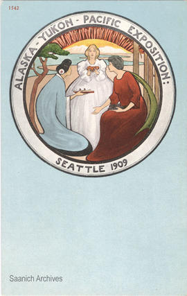 Alaska-Yukon-Pacific Exposition emblem, Seattle, 1909