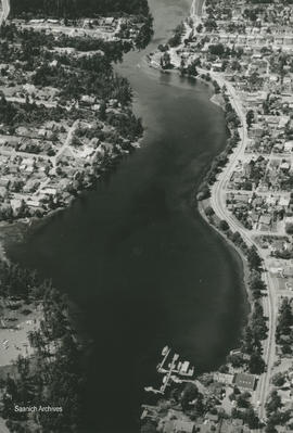 Aerial view of Gorge Waterway