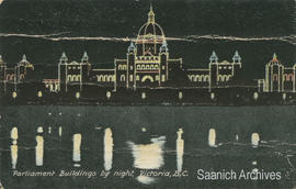 Parliament Buildings by night, Victoria, B.C.