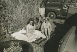 Marion, Emily, and Leslie G. Underwood at Elk Lake