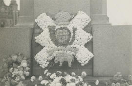 H.L.I. [Highland Light Infantry] badge made up for Ernest Brownlow Underwood's funeral