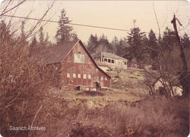 St Joseph's Hospital Farmhouse and barn facing West Saanich Road, 1968