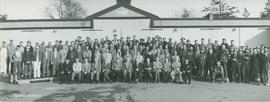 Group taken at the retirement of Mr. H. Dawson, Nov 1956