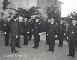 Lt. Gov. George Pearkes with Saanich Police, 1968