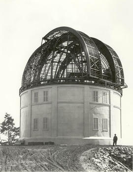 Dominion Astrophysical Observatory, wall sealed with telescope inside