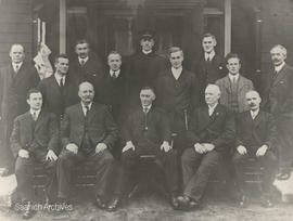 Saanich Council and Officers including Reeve G. McGregor and Police Chief H. Little, 1916