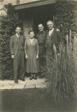 Cousin, aunt, and uncle with Leslie H.P. Underwood (in uniform)