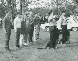 Constables George Barr and James White at dog show at Beaver Lake, 1967