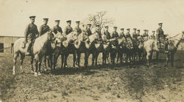 WWI soldiers on horses