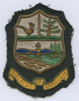 District of Saanich crest from employee uniform blazer