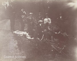 Bicycling party, 'Saanich Crossroad', 1900